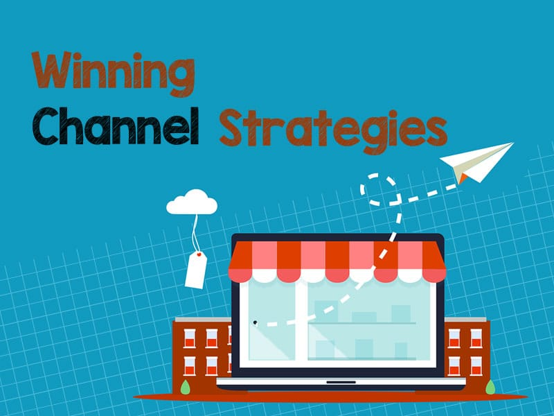 graphic showing various types of marketing channel strategies